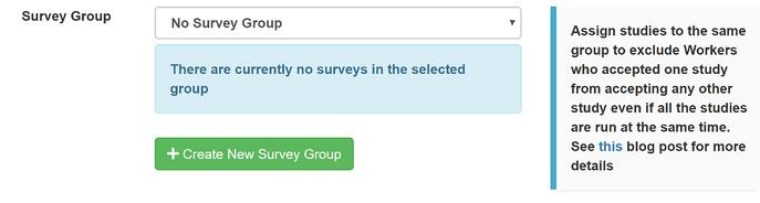 Creating a Survey Group on Prime Panels